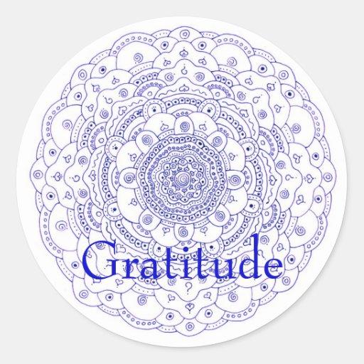 Mandala 6, Gratitude Sticker