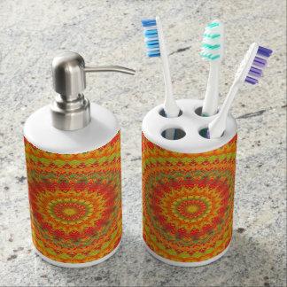 Mandala 73 soap dispenser and toothbrush holder