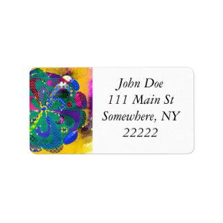 Mandala Abstract Label