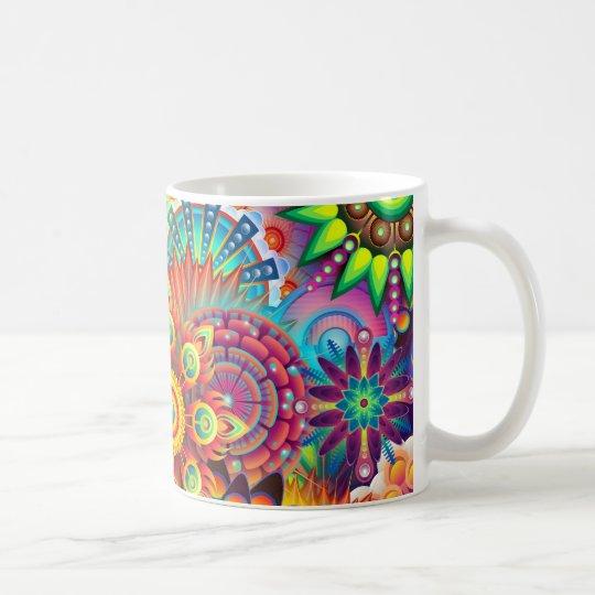 Mandala Abstract Spiritual Psychedelic Trippy Coffee Mug