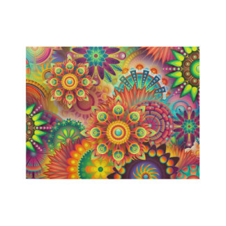 Mandala Abstract Spiritual Psychedelic Trippy Wood Poster