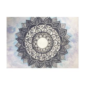 mandala and watercolour canvas print