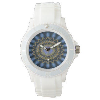Mandala applied (blue) watch