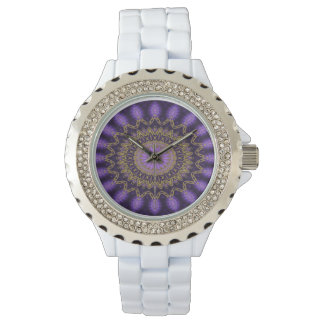Mandala applied (violet) watch
