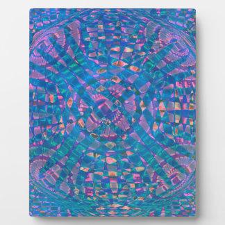 Mandala Aqua Plaque