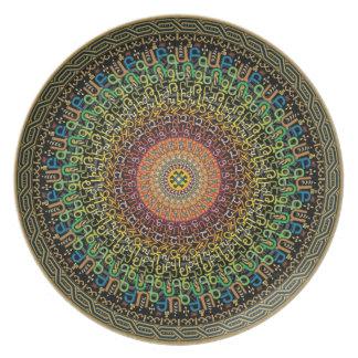 Mandala Armenian Alphabet Plate