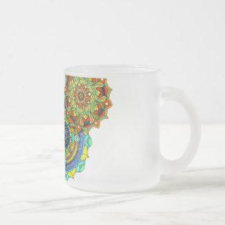 Mandala Art - Balance Frosted Glass Coffee Mug