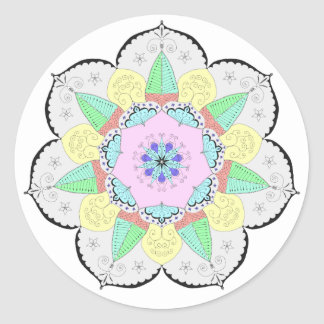 Mandala Art Patterns Designs Yoga Floral Sticker