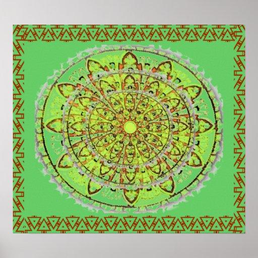 Mandala Art Poster