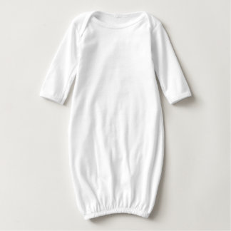 Mandala Baby  Long Sleeve Gown, White Shirt