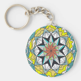 Mandala Basic Round Button Key Ring