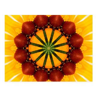 Mandala - Black-Eyed Susan Post Card