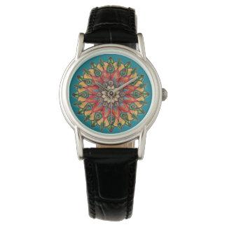 Mandala Black Strap Watch