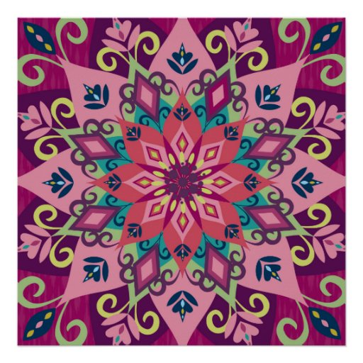 Mandala Bloom Poster