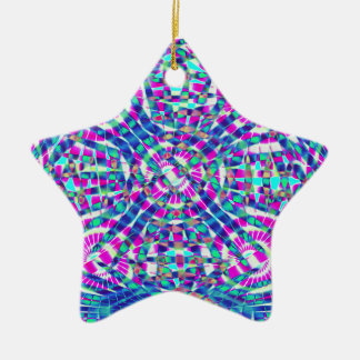 Mandala Blue Christmas Ornament