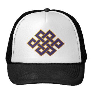Mandala  Blue Karma Buddhism Eternal Knot Hat