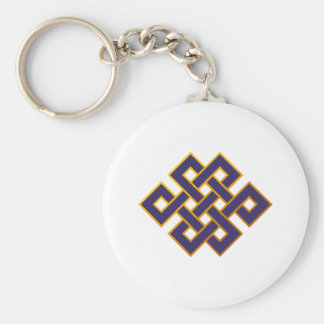 Mandala  Blue Karma Buddhism Eternal Knot Key Ring