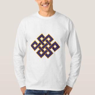Mandala  Blue Karma Buddhism Eternal Knot Tee Shirts