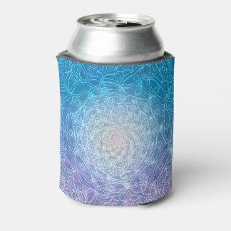 Mandala Blue Violet Reflection Can Cooler