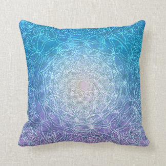 Mandala Blue Violet Reflection Cushion