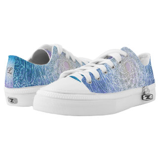 Mandala Blue Violet Reflection Printed Shoes