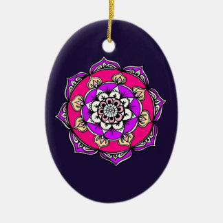 Mandala Bright Christmas Ornament