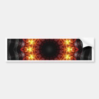 Mandala burning heat created by Tutti Bumper Sticker