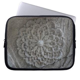 "Mandala Carved Stone Neoprene Laptop Sleeve 10"""