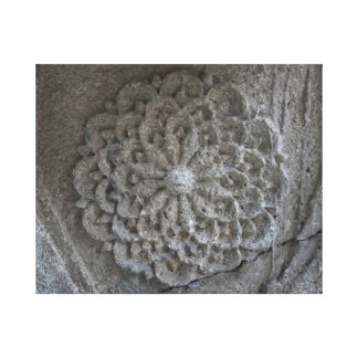 Mandala Carved Stone Photo Single Canvas Print