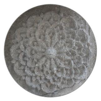 Mandala carved stone photography Decorative Plate