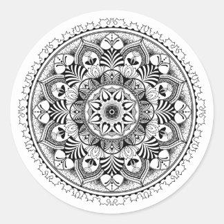 Mandala Circle Classic Round Sticker