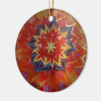 Mandala Circle Ornament Red and Gold