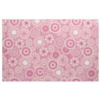 mandala cirque pink cream fabric