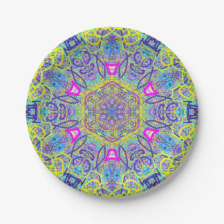 "Mandala ""Clowns"" Paper plate by MAR"