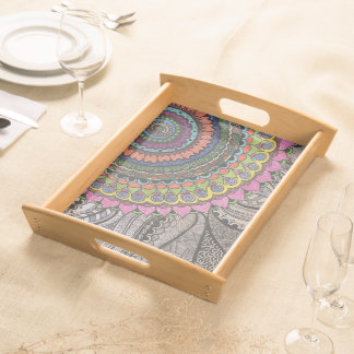 Mandala Colourful Artwork Serving Tray