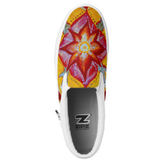 Mandala  Custom Zipz Slip On Shoes,