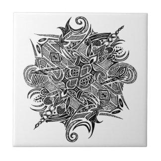 Mandala | Customizable Small Square Tile