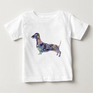 Mandala Dachshund Fine Jersey T-Shirt, White Baby T-Shirt