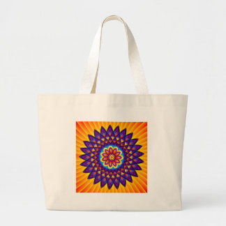 Mandala Dahlia Canvas Bags