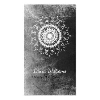 Mandala Damask Lotus Flower Meditation Black White Pack Of Standard Business Cards