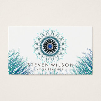 Mandala Damask Yoga Holistic Meditation Massage Business Card