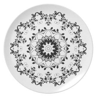 Mandala Decorative Melamine Plate