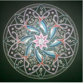 Mandala Deepsee Energy painting Fotostatue