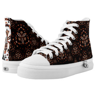 Mandala Design 01 - High Top Shoes Printed Shoes