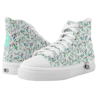 Mandala Design 02 - High Top Shoes Printed Shoes