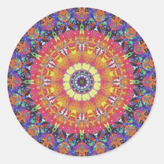 Mandala Design 4 Classic Round Sticker