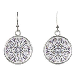 Mandala designed wearable art earrings