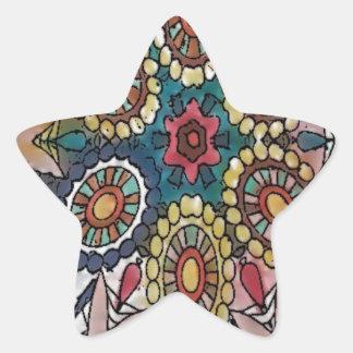 Mandala designs art gifts star sticker
