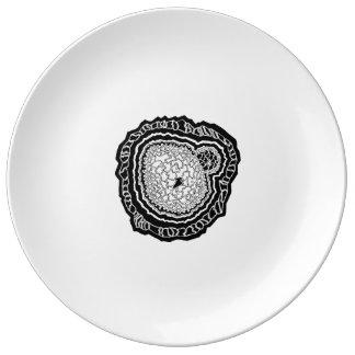 Mandala doodle core geometry plate