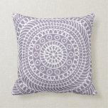 Mandala Doodle Lavender Cushion